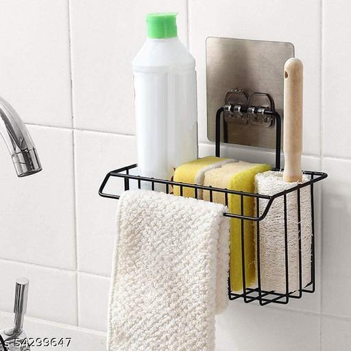 Basket Shelf, Metal Basket Shelf for Bathroom & Kitchen, Wall Mounted Hanging Storage Holder Bathroom Shower Caddy Basket, Liquid and Toothbrush Holder with Kitchen Towel Rack Stand