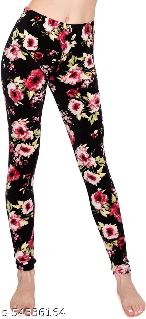 Women's Woollen Velvet Legging Pink