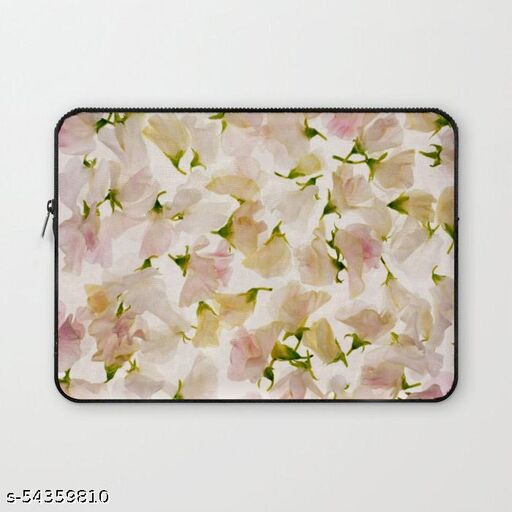 Crazy Corner Beautiful Flowers Printed 13 Inch Laptop Sleeve/Laptop Case Cover with Shockproof & Waterproof Linen On All Inner Sides (Made of Canvas with Ultra HD Print) - Gift for Men/Women Laptop Bags & Sleeves