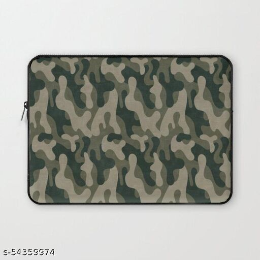 Crazy Corner Military Print 1 11 Inch Laptop Sleeve/Laptop Case Cover with Shockproof & Waterproof Linen On All Inner Sides (Made of Canvas with Ultra HD Print) - Gift for Men/Women