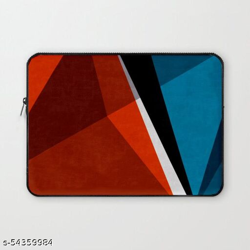 Crazy Corner Geometric Design Print 15 Inch Laptop Sleeve/Laptop Case Cover with Shockproof & Waterproof Linen On All Inner Sides (Made of Canvas with Ultra HD Print) - Gift for Men/Women