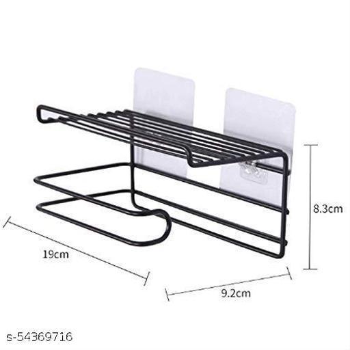 bathroom tissue holder with storage shelf (black)1pcs