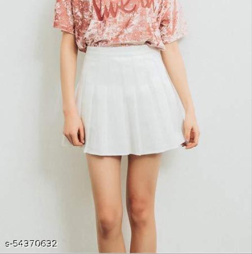 white plan skirt for womens girls