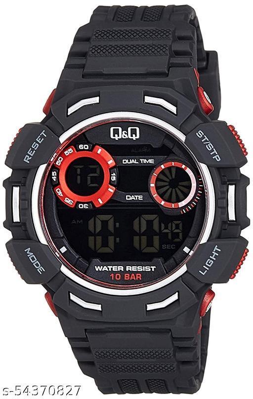 Q&Q Digital Grey Dial Men's Watches