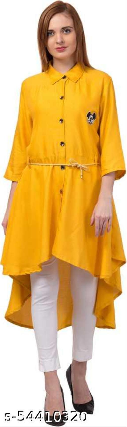 Alexa India Women High Low Yellow Dress