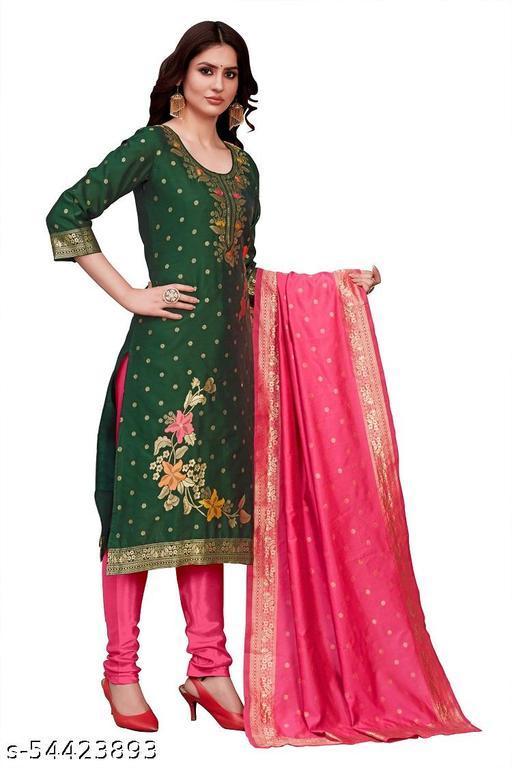 KD-1181Jacquard Woven Salwar Suit Material Green