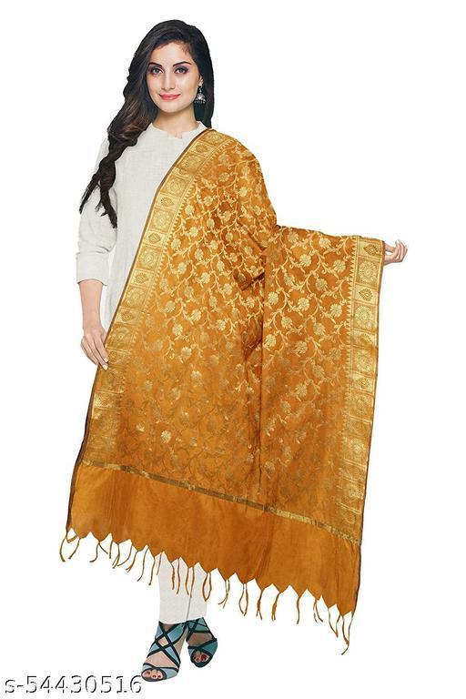Fancy Banarasi Cotton Silk Dupatta for Women's