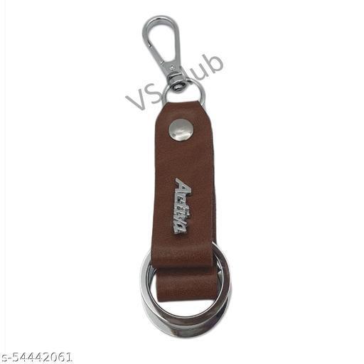 VS Club Keychain / Stylish Leather And Metal Key Chain For Bike Or Car