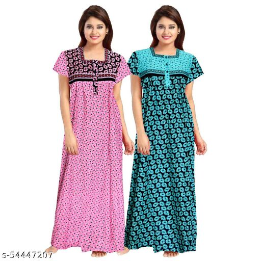 R V Lifestyles Designer Cotton Women's Nightdress