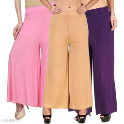 Women's  Casual Wear Palazzo ( Pack of 3)