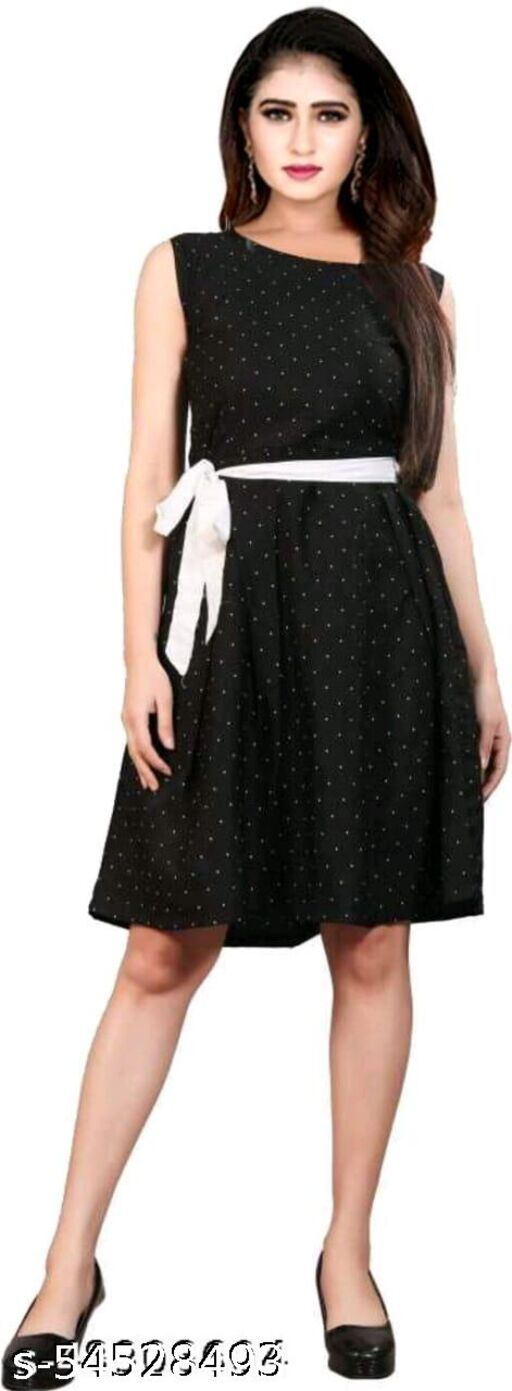 RE black cone (polka dots) western Dresses