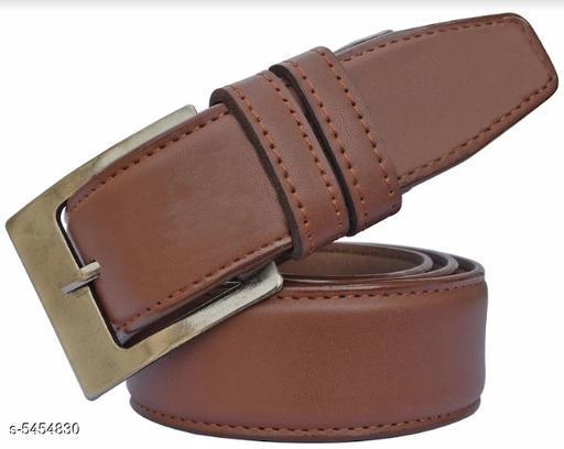 Trendy Men's Brown Leather Belt