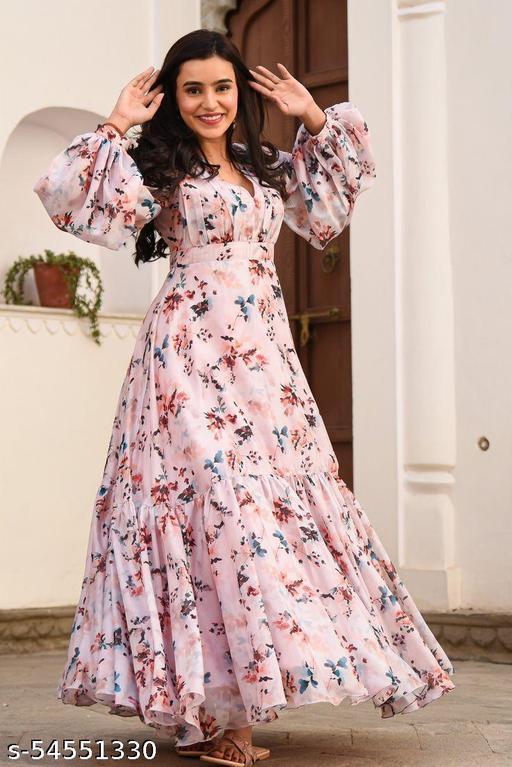 Desinger Zanziber Floral Gown
