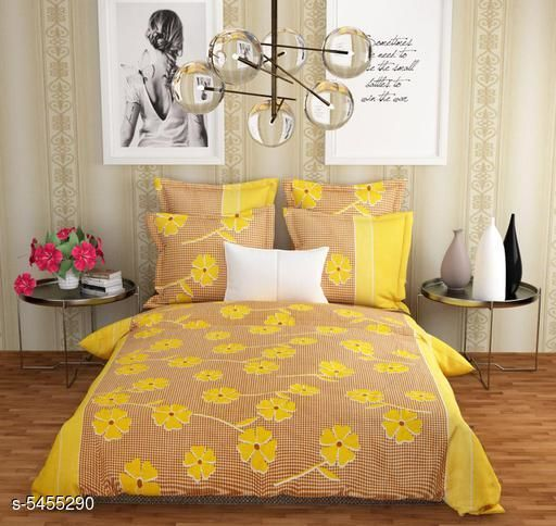Bedsheets  Attractive Heavy Polycotton 90 X 90 Double  Bedsheets  *Fabric* Heavy Polycotton  *No. Of Pillow Covers* 2  *Thread Count* 140  *Multipack* Pack Of 1  *Sizes*   *Queen (Length Size* 90 in, Width Size  *Work* Printed  *Sizes Available* Queen *    Catalog Name:  Attractive Heavy Polycotton 90 X 90 Double  Bedsheets Vol 15 CatalogID_813651 C53-SC1101 Code: 413-5455290-