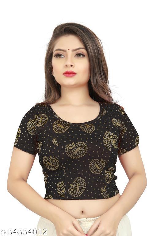 NK PAL STYLE Girl's & Women's Cotton Lycra Blend Readymade Round Neck Short Sleeve Blouse