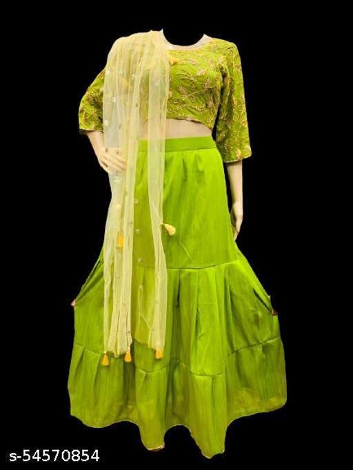 classic curves stitched 100% silk cotton lehenga choli for women's