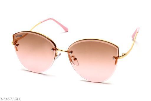 Jack Ryan UV Protective Cat Eye Women Sunglassess-B80-380 C4 (Light Brown Color)