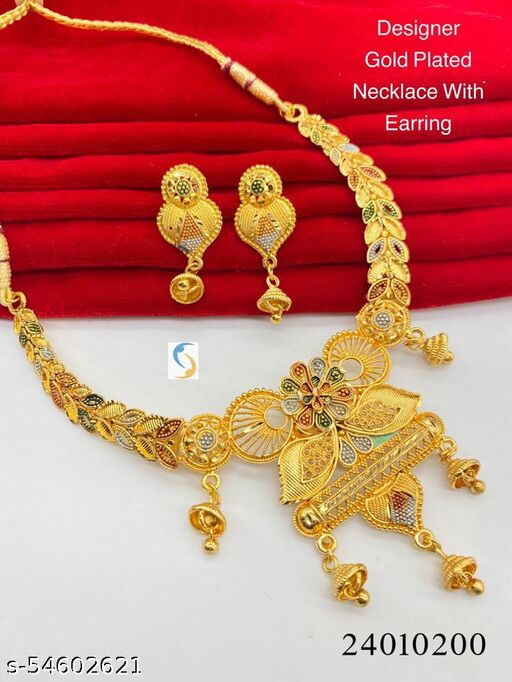 GOLD PLATED SET WITH EARRING