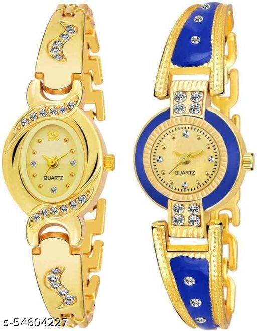 New Best Designer Combo Of 2 Pink & Gold Women Watches Analog Watch - For Girls