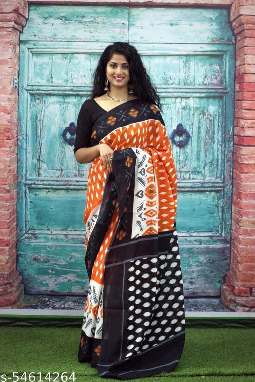 The Craft City Jaipur Printed Cotton Saree For Women