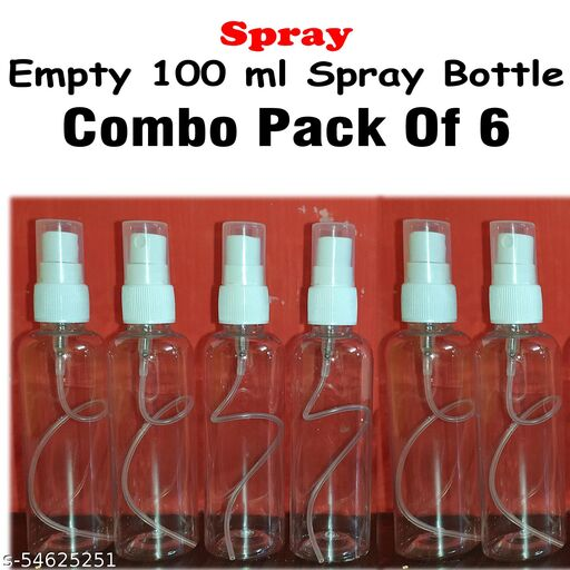 100ml Empty Transparent Refillable Spray Bottle use for Spray Water Type Liquide Sprayer, We Use for Toner, Sanitizer, Hair Serum, Face Serum and Many More Hair Oil, We use for Our PLP Herbal's Products