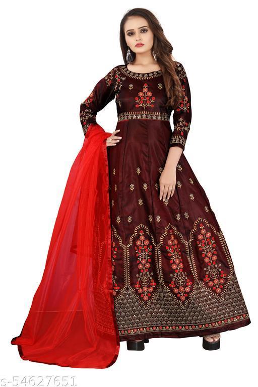 Sequins Manohari Maroon Gowns