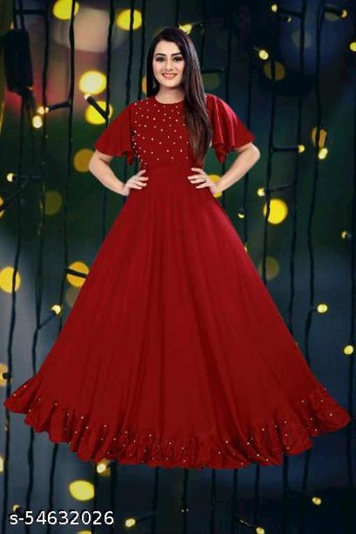 Anarkali BIg Maroon Gown