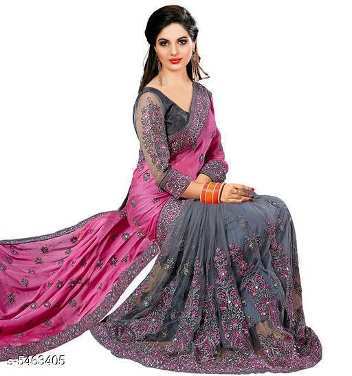 Aishani Pretty Satin & Net Sarees