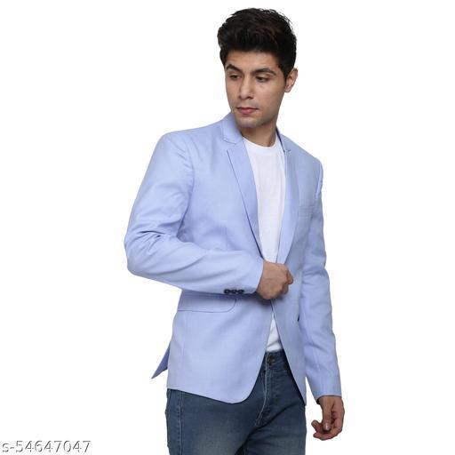 An Garments Men Solid Festive & Wedding, Party, Casual, Light Blue Blazer