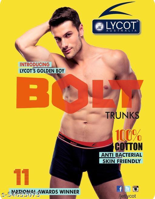 Jet Lycot 100% Cotton Bolt Trunks for Men (Pack of 3pcs)