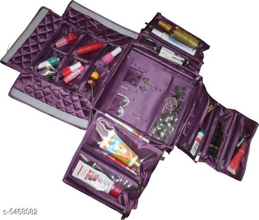 Box Storage Elite Unique Organiser  *Material* Satin    * Size* W X H X D -10 cm X 3 cm X 9 cm  * Description* It Has 1 Piece Of Organisers Pouch  *Sizes Available* Free Size *   Catalog Rating: ★3.7 (15)  Catalog Name: Elite Unique Organisers Vol 3 CatalogID_815709 C131-SC1625 Code: 335-5468082-