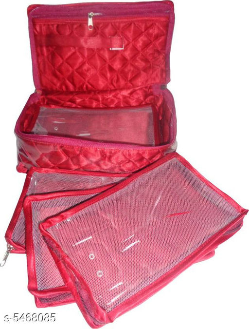 Box Storage Elite Unique Organiser  *Material* Satin    * Size* L X B X H - 21.5 cm x 15 cm x 9.4 cm  * Description* It Has 5 Piece Of Organisers Pouch  *Sizes Available* Free Size *   Catalog Rating: ★3.7 (15)  Catalog Name: Elite Unique Organisers Vol 3 CatalogID_815709 C131-SC1625 Code: 933-5468085-