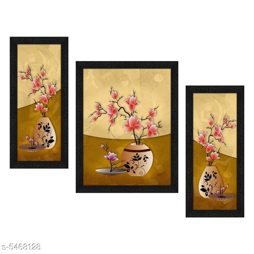 Paintings & Posters Traditional Home Utility Paintings With Frames  *Material* Wood  *Size* (L X W ) - Ist Painting - 13.5 in X 6 in, 2nd Painting - 13.5 in X 10.5 in, 3rd Painting - 13.5 in X 6 in  *Description* It Has 3 Piece Of Wall Paintings  *Work* Printed  *Sizes Available* Free Size *    Catalog Name: Traditional Home Utility Paintings With Frames CatalogID_815716 C127-SC1611 Code: 733-5468128-