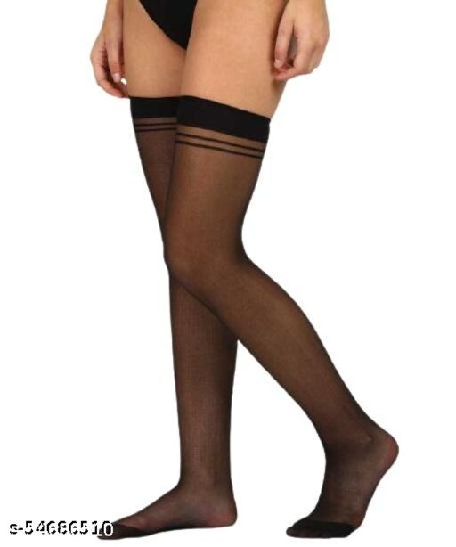 Latest Thigh High Soft Stocking For Girls Comfort Stretch ( 1 Pair )