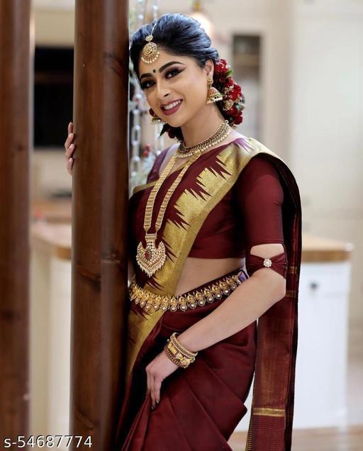 Esha Banarasi Lichi Silk Saree
