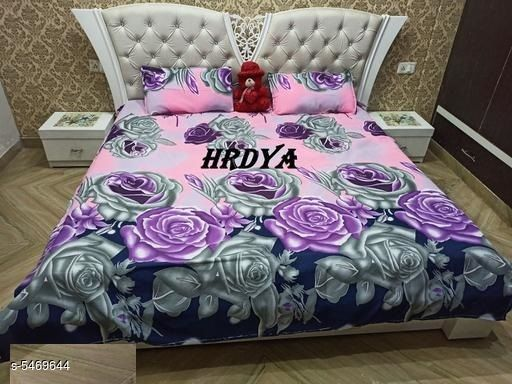 Graceful Polycotton 90x90 Double Bedsheets