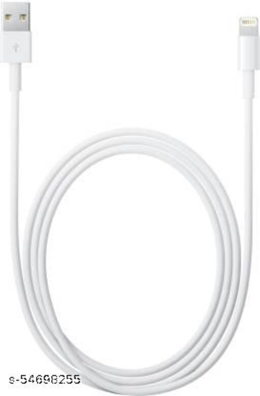 ERONICS Lightning to USB Cable (1 m) Lightning Cable  (Compatible with Mobile, White, One Cable)