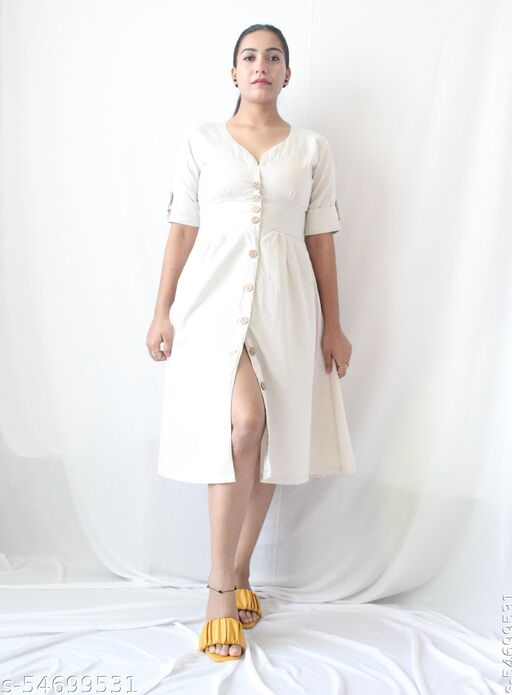 Shirt Dress with Front button closure