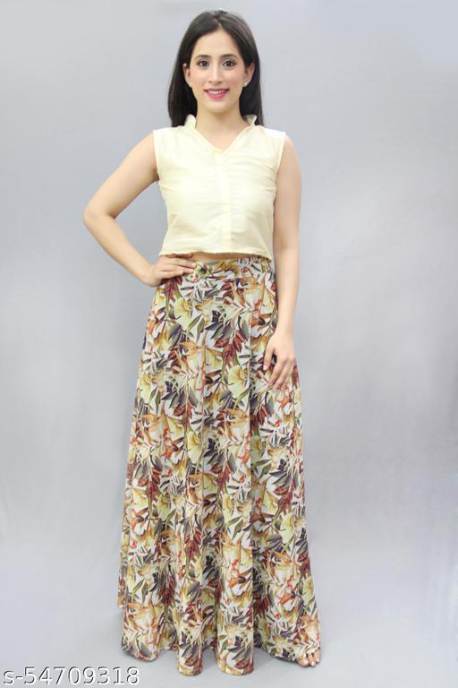 Stylish Printed Maxi Party Wear Skirts