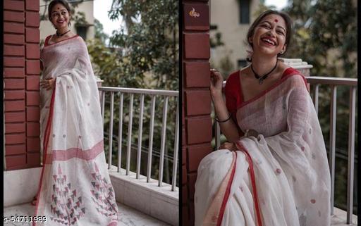 Dhra Creation Present Chanderi Cotton Saree With Blouse.