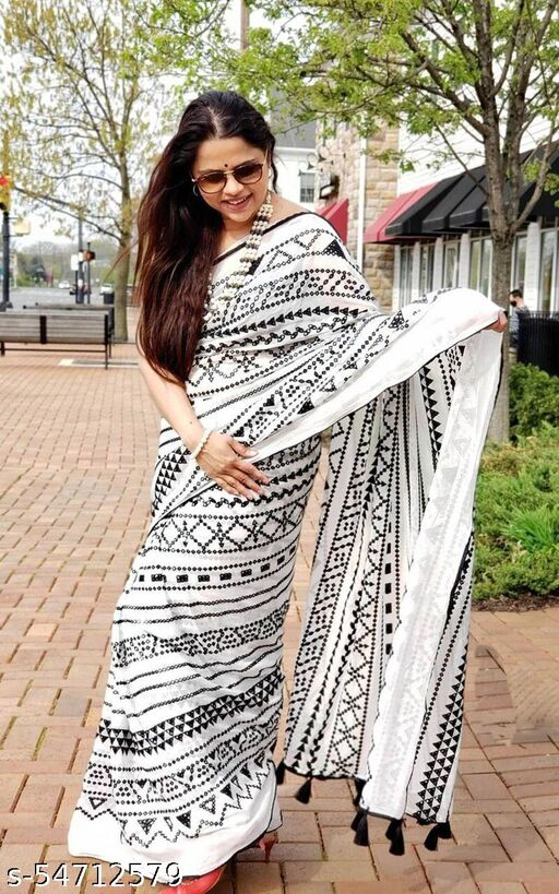 Dhra Creation Present Soft Cotton Daily Wear Saree With Blouse.