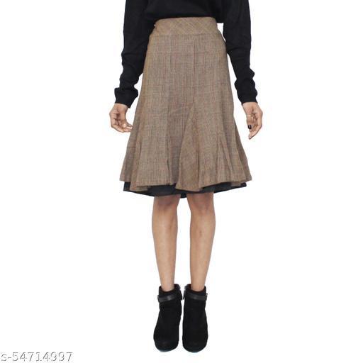 SICHAYA Brown Woolen Skirt