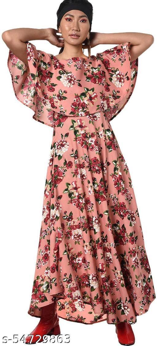 Mixcult Women Maxi Pink Gown