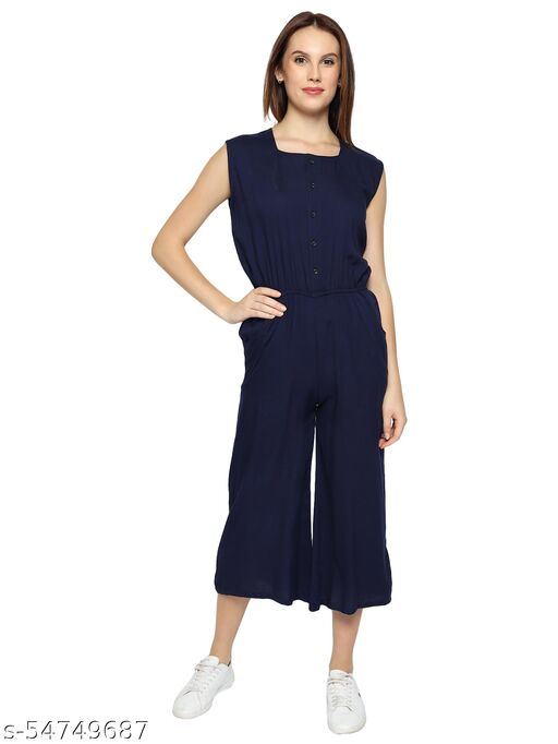 Fair Craft Rayon Cotton Solid Jumpsuit