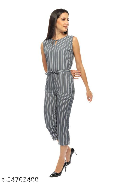 Fair Crafts Crepe A-line Printed Jumpsuit for Women