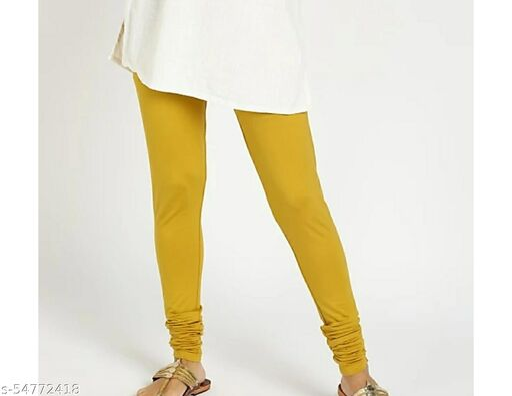 Mustard Chudidar Leggings