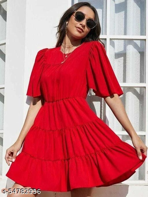 RED FLAIR TYRE DRESS