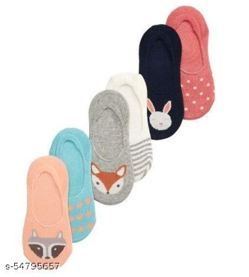 ROXYHUB Cotton Winter Loafer Printed 6 to 9 Years Kids Socks for Boys and Girls (Free_Size,Pack of 6)