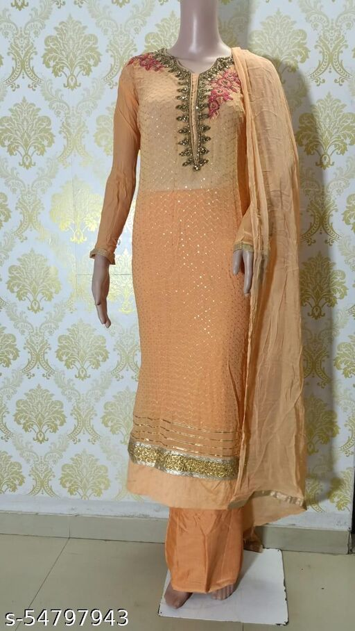 Trendy Refined Unstitched Suits With Bottom