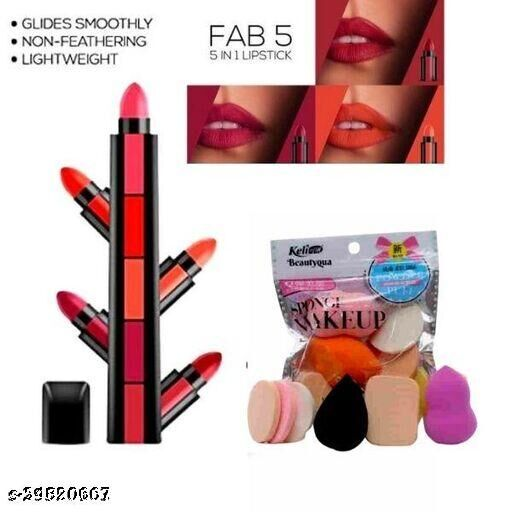 STYLISH 5 IN 1 LIPSTICK WITH BLENDER PACKET